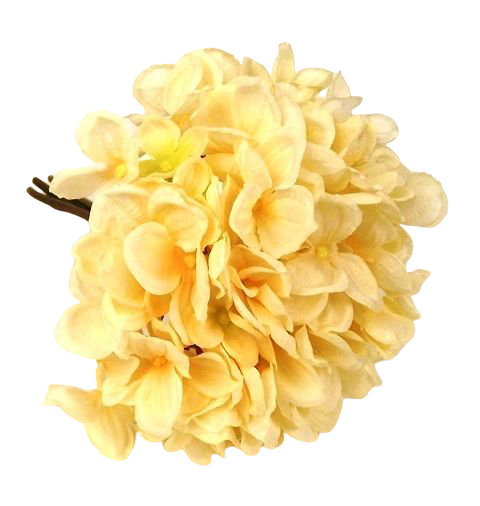 28cm Hydrangea Posy Light Peach