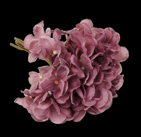 28cm Hydrangea Posy Mauve