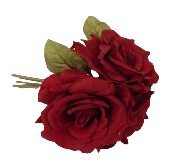 24cm Red Open Rose Posy