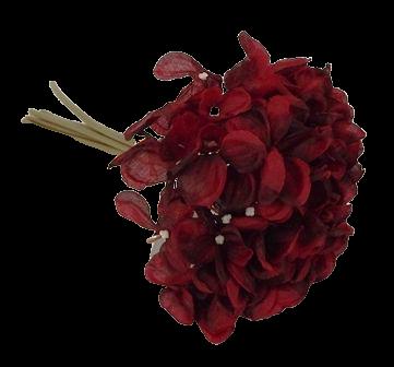 24cm Red Hydrangea Posy