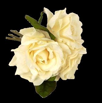24cm Light Peach Open Rose Posy