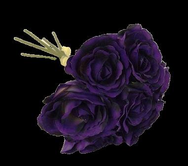 26cm Purple Open Hand Tied Bouquet