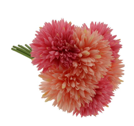 24cm Spiky Chrysanthemum Bundle Pink