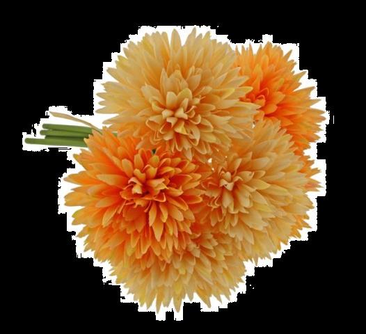 24cm Spiky Chrysanthemum Bundle Orange