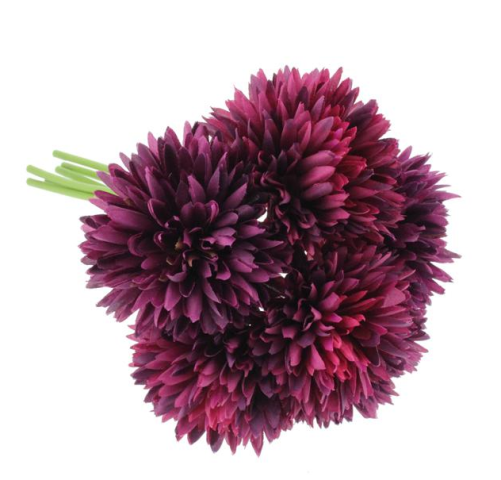 24cm Spiky Chrysanthemum Bundle Purple