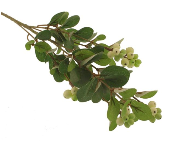 68cm Snowberry Spray Cream/Green