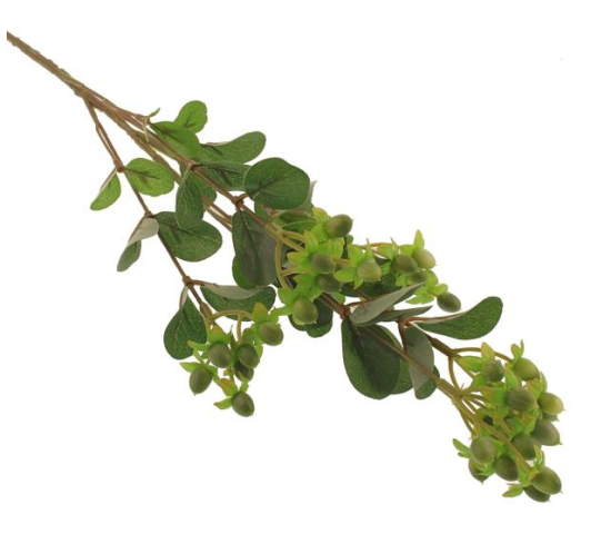 70cm Hypericum Spray Green