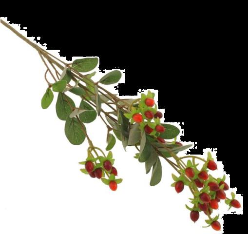 70cm Hypericum Spray Red