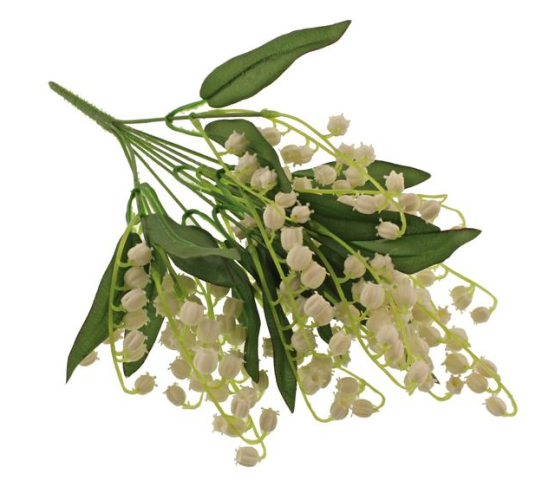 40cm Lily of the Valley Bush White