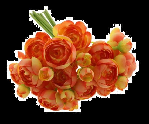 28cm Ranunculus Bundle Orange