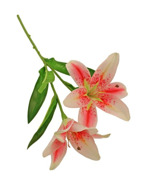 46cm Tiger Lily Spray Pink