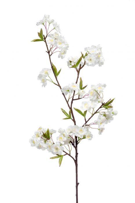 Apple Blossom Spray 95cm White