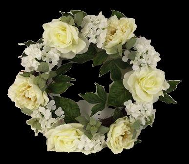 55cm Cream Peony/Rose/Hydrangea Wreath