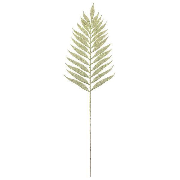 54cm Glittered Lady Fern Green