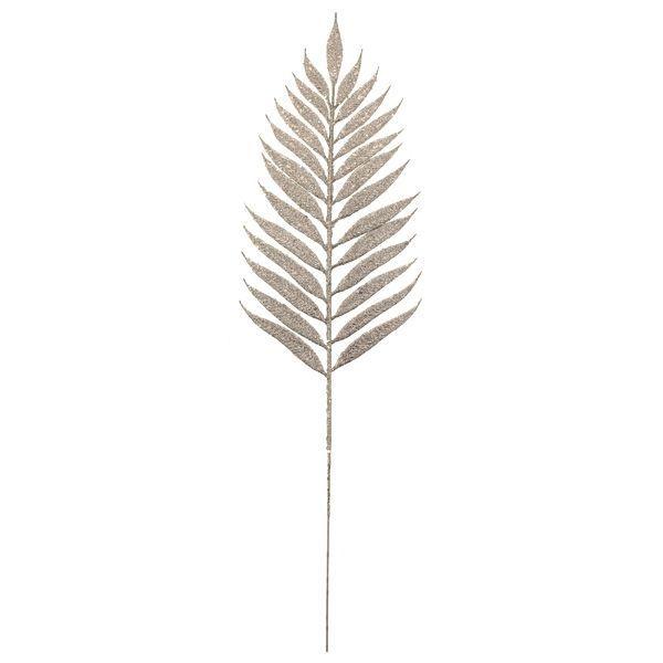 54cm Glittered Lady Fern Silver