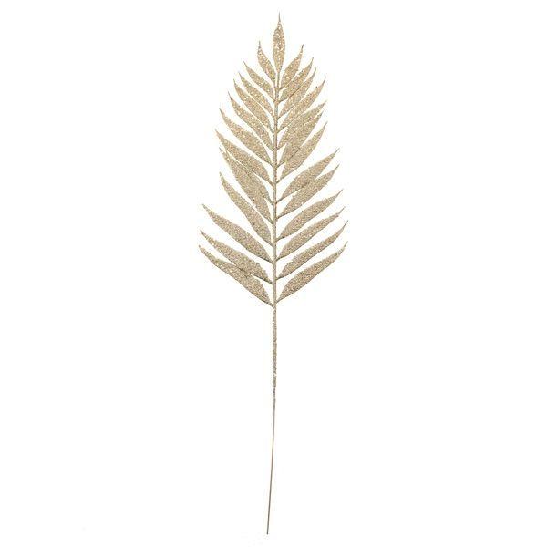54cm Glittered Lady Fern Gold