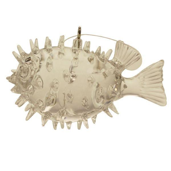8cm Hanging Pufferfish Clear