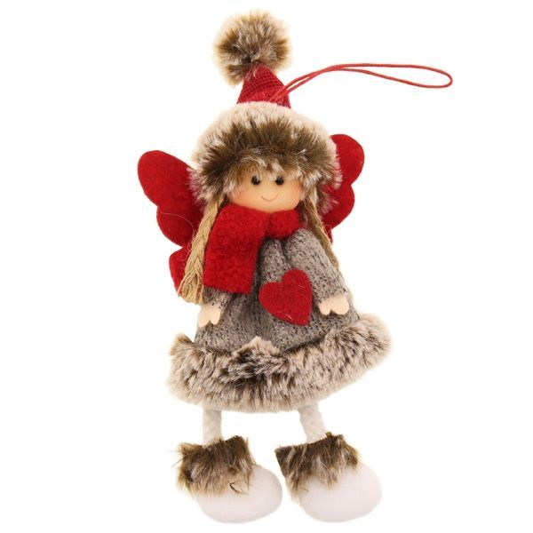 18cm Fabric Angel Hanger Grey