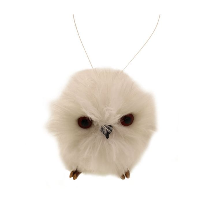 7cm Hanging Snowy Owl Snowy