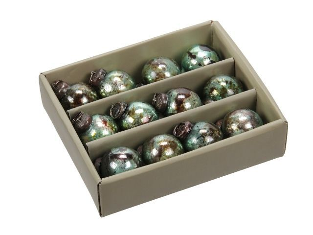 Box. 12 Glass Ornaments
