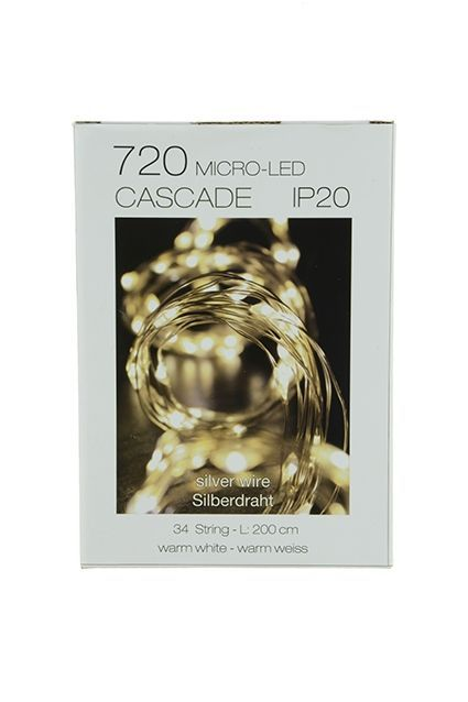 720 Micro LED Cascade x 34 Strings Indoor Use