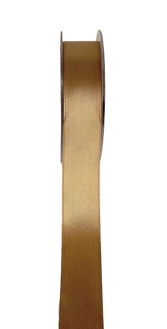 Double Face Satin 25 mm x 25 mtr Lt Brown (41)