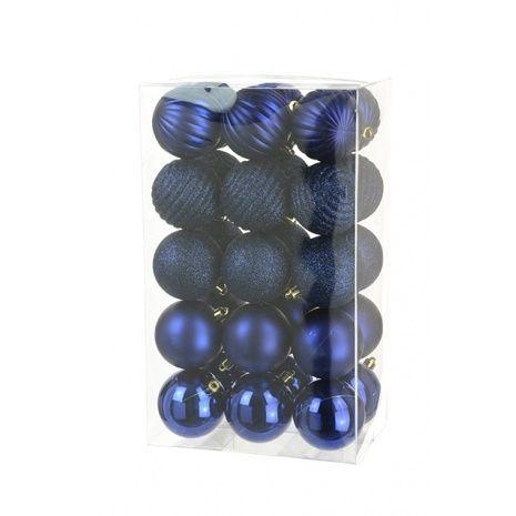 6cm Shatterproof Baubles x 30 Dark Blue - See Additional Info