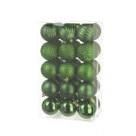 6cm Shatterproof Baubles x 30 Forest - See Additional Info