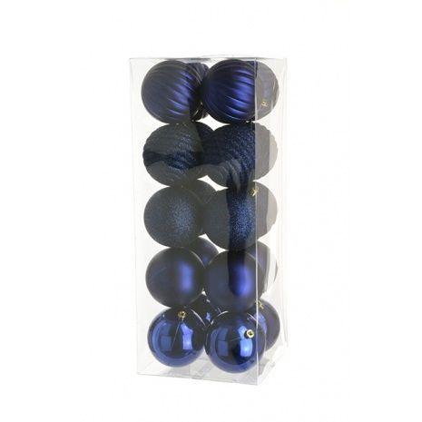 8cm Shatterproof Baubles x 20 Dark Blue - See Additional Info