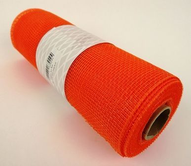Eleganza Deco Mesh 25cm x 10yds Orange