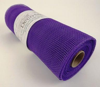 Eleganza Deco Mesh 25cm x 10yds Purple