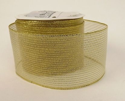 Eleganza Finesse Metallic Stripe 63mm x 10mtr Gold