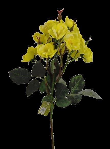 51cm Wild Rose Spray Yellow