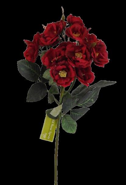 51cm Wild Rose Spray Red