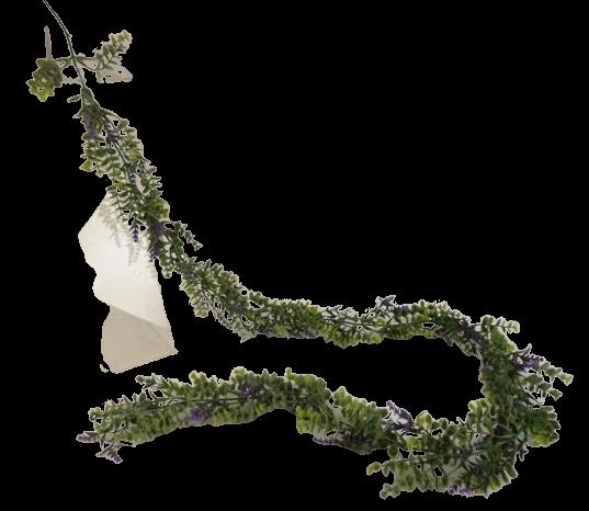 180cm Lavender/Eucalyptus Garland