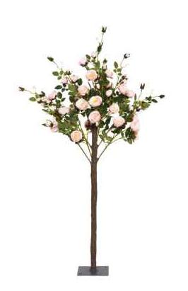 140cm Pink Rose Tree