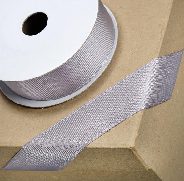Grosgrain Ribbon 16mm x 10mtr Silver