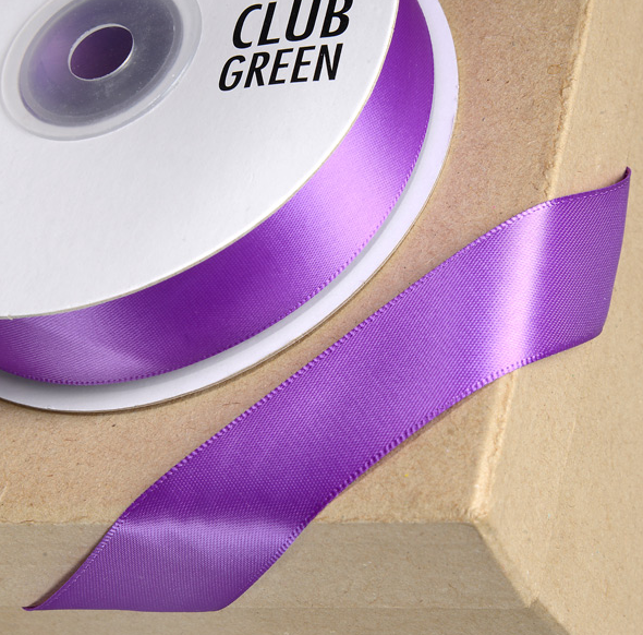Double Face Satin 15mm x 25mtr Purple