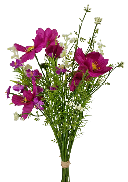 Cosmos Flower Bouquet 42cm Magenta