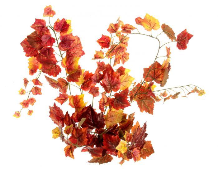 Grape Ivy Bush Red/Orange 100cm W/159 Leaves