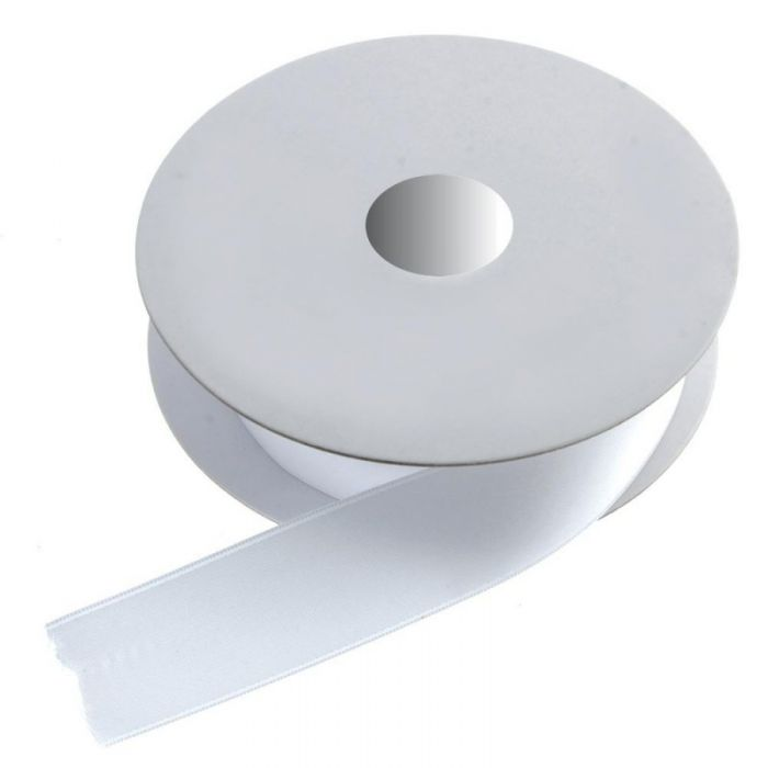 Double Face Satin 38mm x 20mtr White