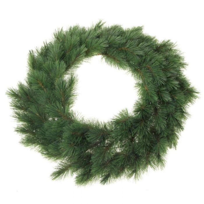 Artificial Evergreen Mountain Wreath 60cm